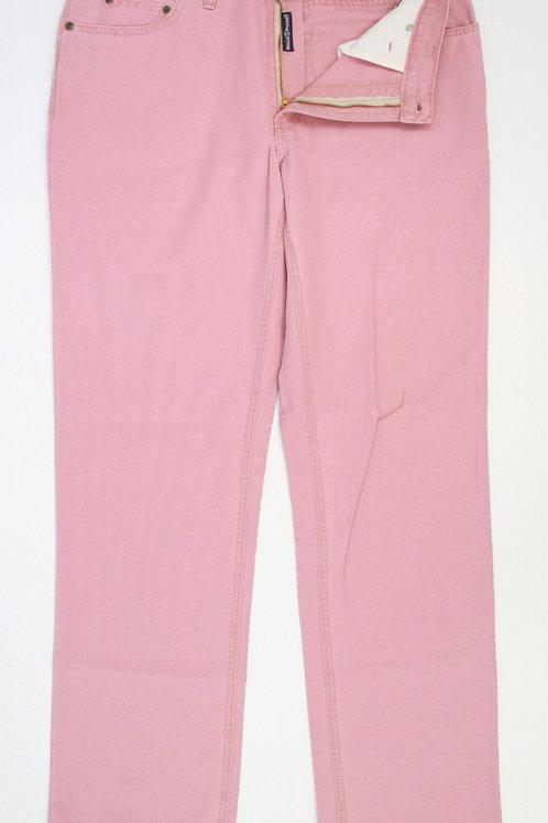 Bills Khakis Pink Chino Flat Front 34 x 34