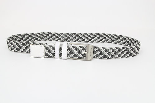 Under Armor White, Leather Braided w/Grays & Whites 36
