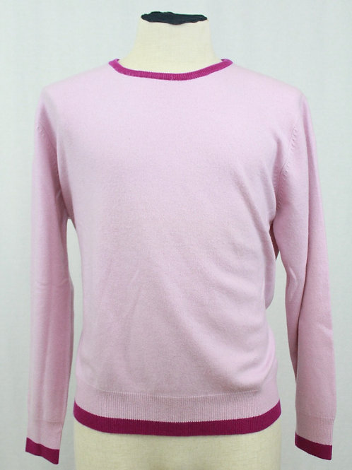 Nikky Lavender Crew Neck w/Purple Trim