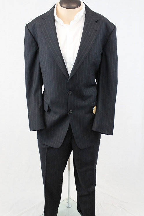 Burberry Black Wool Muted Pinstripe Pant: 38 x 30