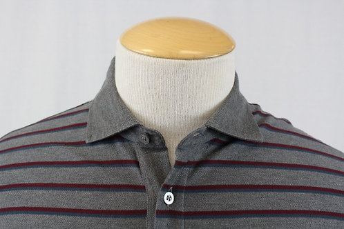Ermenegildo Zegna Long Sleeve w/Burgundy Stripes XL