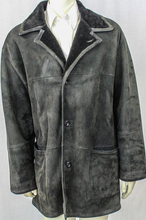 No Brand Black Shearling, Button Front XL