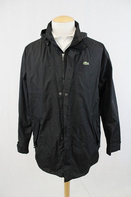Lacoste Black Zip Front Rain Jacket XXL