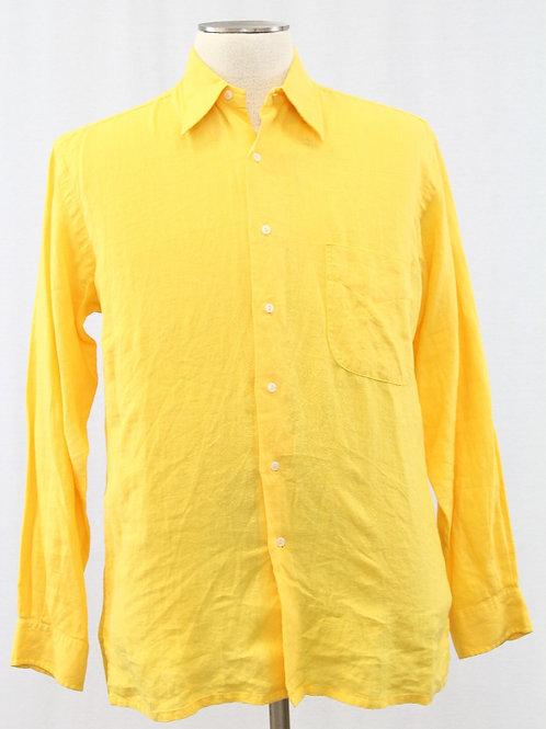 Europann Yellow Long Sleeve, 100% Linen Medium