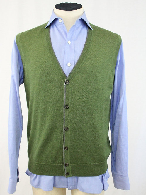 Robert Talbott Vest 5 Button Front Wool Medium