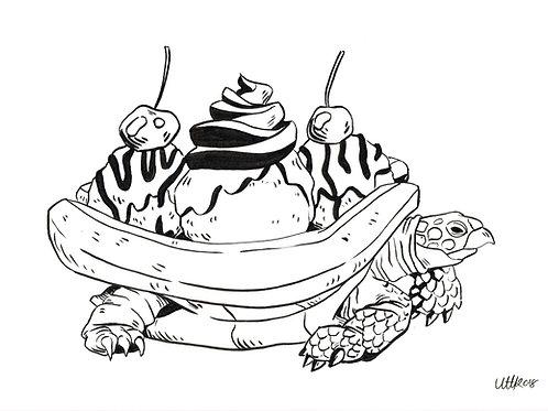 Banana split turtle
