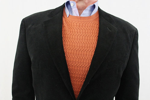 Giorgio Armani Black 40 Regular Cotton Narrow Corduroy Suit Pants: 34 x 31