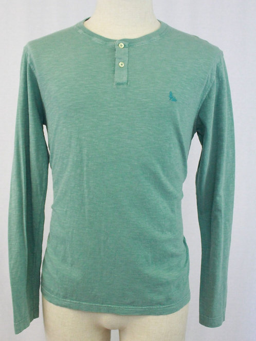 Gran Sasso Green 2 Button Pullover Long Sleeve Small