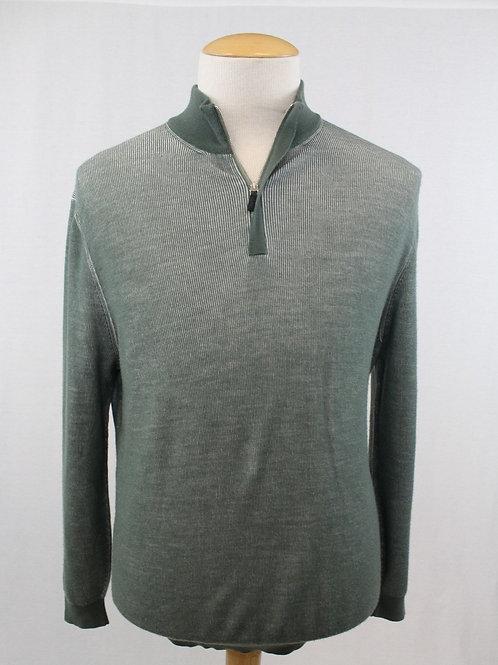 Ermenegildo Zegna 1/4 Zip Pullover Wool/Cashmere Mint Green XL