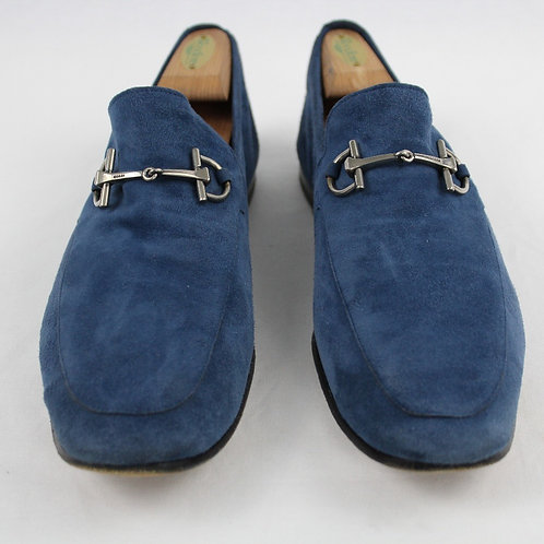 Gucci Blue Suede Driving Moc 10.5