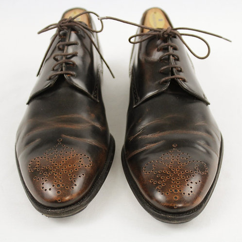 Bally Brown Oxford w/Medallion Toe 9.5