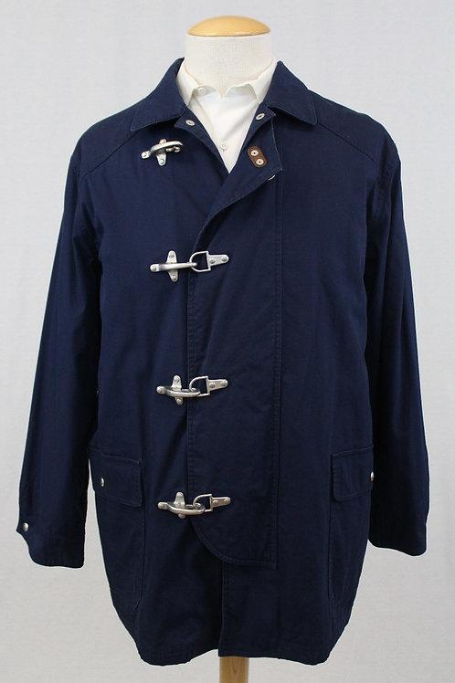 Ralph Lauren, Navy, Sailorman Latches, Cotton, XL