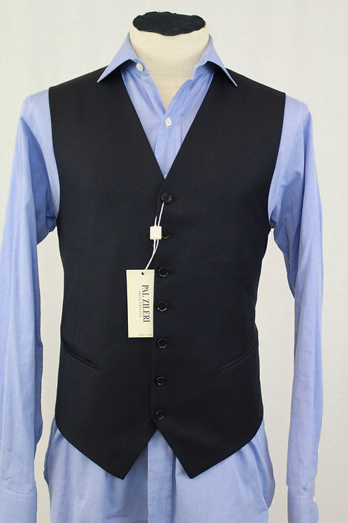 Pal Zileri Navy Vest Wool 42 Regular