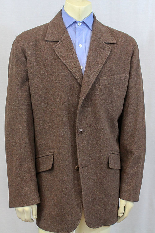 Ermengildo Zegna, Brown, 100% Cashmere, Button Front, X-Large