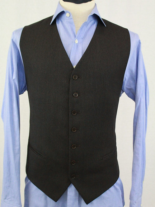 Pal Zileri Brown Wool Vest