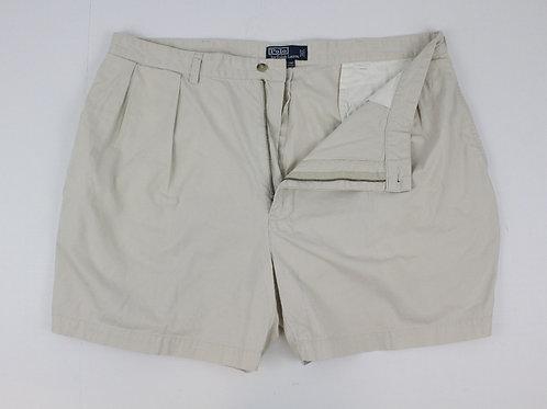 Ralph Lauren Cream Chino Shorts w/Pleated Front 42