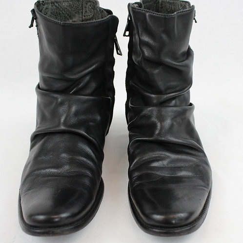John Varvatos Black Boots w/Side Zip 10.5