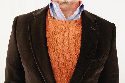 Etro Brown Cotton Velvet Sport Coat w/Floral Lining 40 Regular