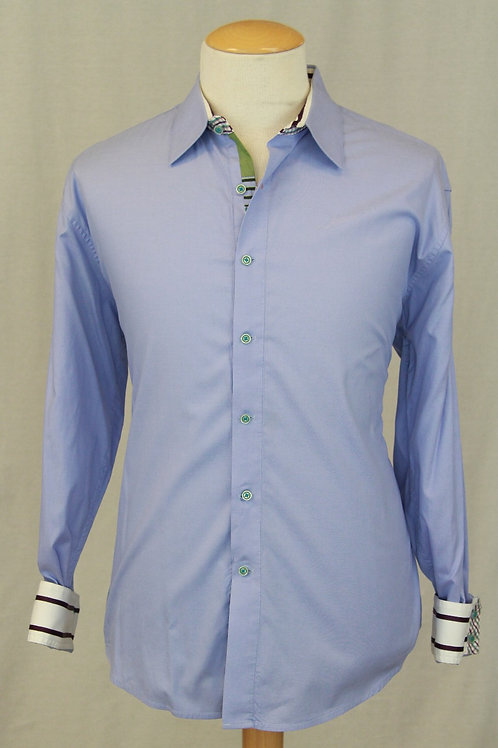 Robert Graham Blue Solid XXL