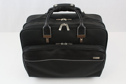 Tumi Black Canvas Rolling Office/Briefcase