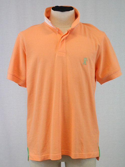Vicomte A., Orange, Short Sleeve, 2 Button Pullover, Large