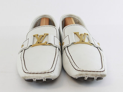 Louis Vuitton White Driving Moc 12