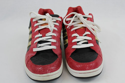 Adidas Red Sneakers w/Gold & Black Trim 11.5