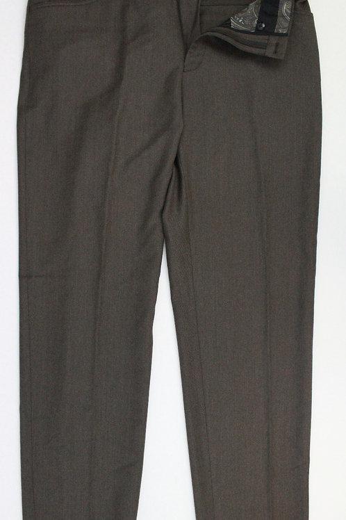 Tallia Brown 100% Wool Flat Front