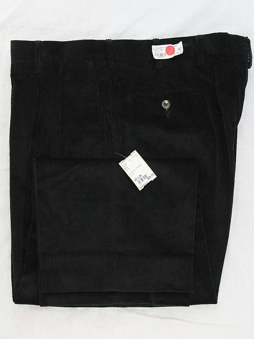 Berle Black Corduroy Pleated Front 40 x 26