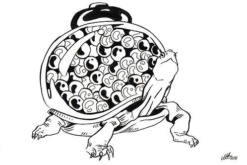 Gum machine turtle