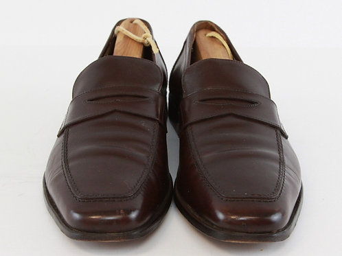 Salvatore Ferragamo Cognac Penny Loafers 9