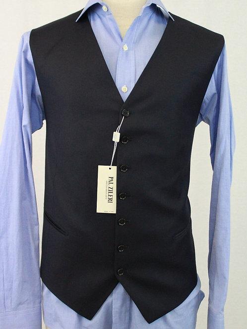 Pal Zileri Navy Wool Vest 52 Regular