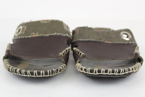 GBX Footwear, Olive, Distressed Brown Leather w/Metallic Accents