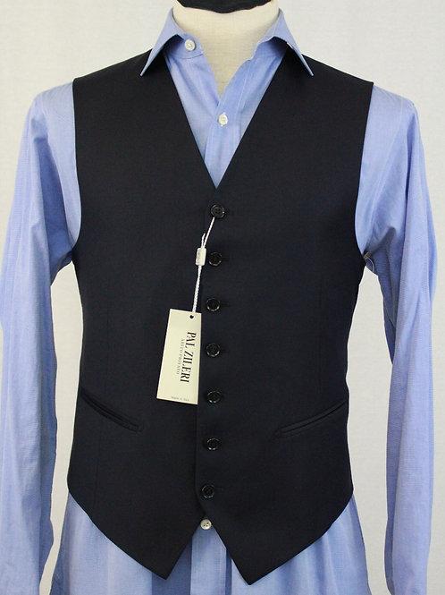 Pal Zileri Navy Wool Vest 38 Regular