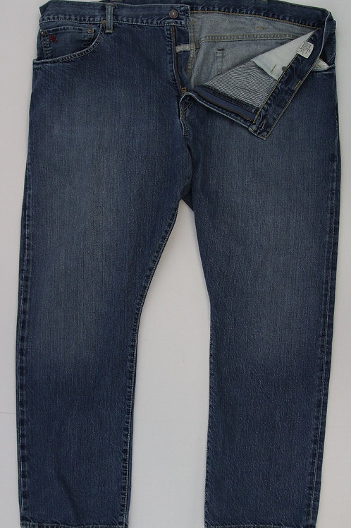 Ralph Lauren Denim Blue Washed Finish Hampton Straight 42 x 30