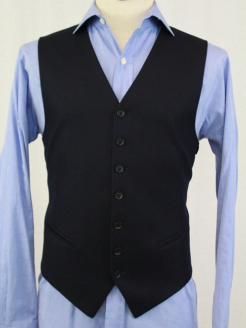 Pal Zileri Navy Wool Vest 42 Regular