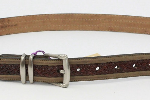 Tommy Bahama Brown Belt w/Braided Center 40