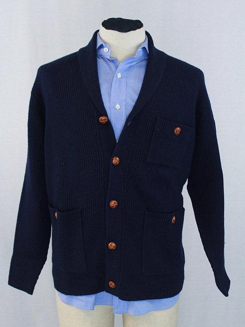 Mine Navy Cardigan w/Shawl Collar Medium