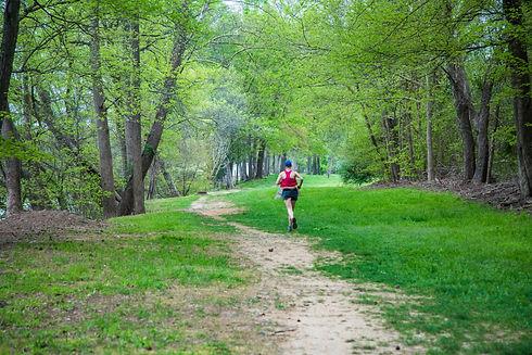Roanoke Canal Trail Man Jogging on Trail