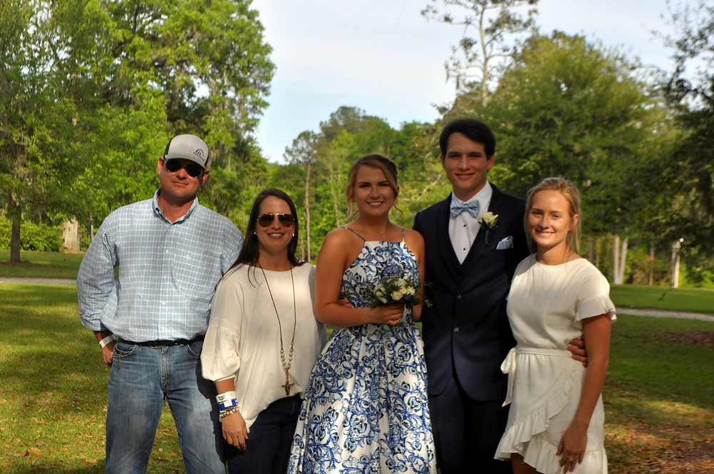 Taken at Rosemary Plantation with Levi's parents, girlfriend, Sydney and sister, Lakin.  Thomasville Senior Prom 2018