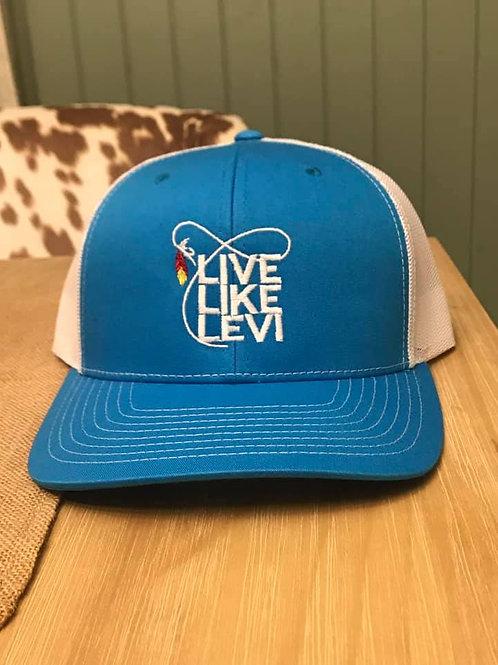#LLL Hat-blue/white