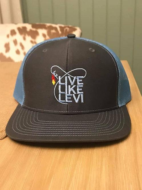 #LLL hat-grey/blue