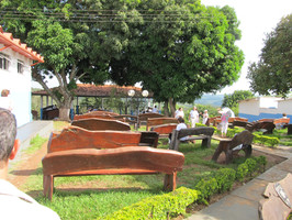Casa De Dom Inacio Complex Magic Garden Wood Benches