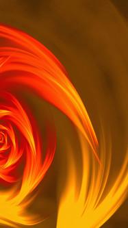 Abstract Swirl Shape Orange And Yellow
