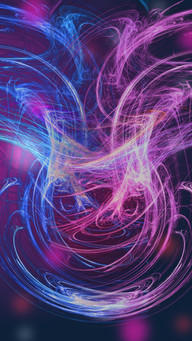 Abstract Light Flare With Purple Lights