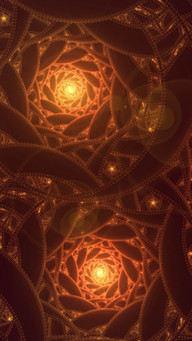 Fractal Shape Abstract Dark And Light