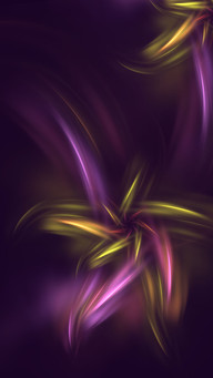 Purple Shades Abstract Flower Fantasy