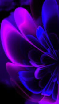Purple Indigo Stylized Flower Half Corolla