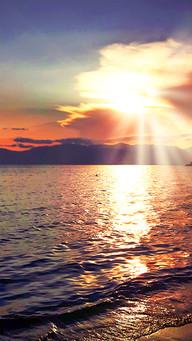 Vibrant Sunset Aegean See