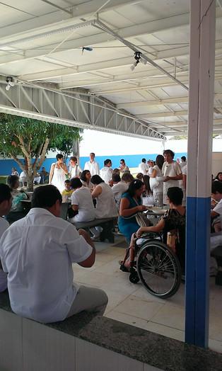 People Waiting at Casa de Dom Inacio